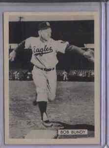 1952 Globe Dallas Eagles 2 1/2 X 3 1/2 BOB BUNDY RARE