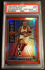 1995 CHARLES BARKLEY FINEST ORANGE BORDERED TEST REFRACTOR PSA 9  #M6  (711)