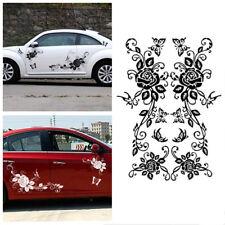 Side of the door butterflies love flower pattern car sticker a pair and not fade