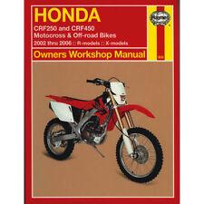 Honda CRF250R CRF250X CRF450R CRF450X 2002-06 Haynes Workshop Manual