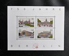 TIMBRES D'ALLEMAGNE : BERLIN 1987 BLOC FEUILLET N° 8 ** NEUF - 750 ANS DE BERLIN