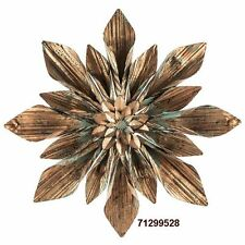 Rustic Copper Flower Metal Wall Decor