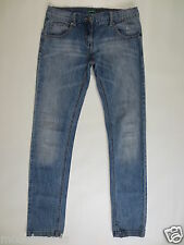 Benetton JEANS SLIM LEG ca 164 25 26 XS bleched used/strass d152