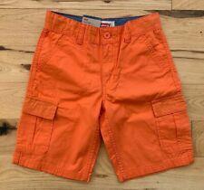 LEVI'S Boy's Relaxed Fit, Below the Knee, Orange Cargo Short Sz 8 Regular NWT