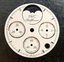 IWC Schaffhausen Luna fase cronografo originale quadrante bianco 23,5 mm
