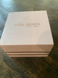 Sofia James NY Fine silver plated Stud and Hoop Earrings Crystal From Swarovski