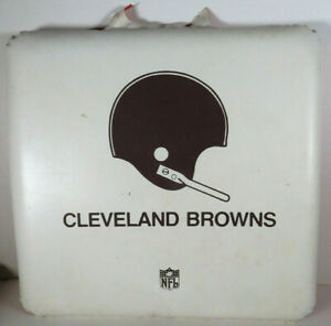 1980s Cleveland Browns Plastic Seat Cushion NFL Football 15x15