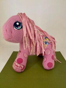 Habro - My Little Pony - 2007 - Knit & Ribbon PINKIE PIE - Plush Soft Toy