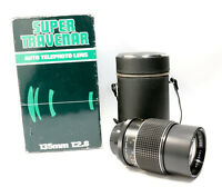 Super Travenar 135mm f2.8 Portrait Lens, M42 fit, Box & Case,Can be Used on DSLR