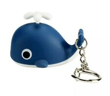 Dark Blue Whale Keychain LED Light Up With Sound 6cm US Seller