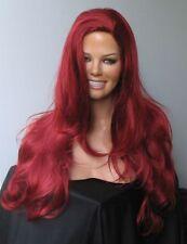 Irres Rot als Farbe - heiße lange Perücke - Travestie Drag Queen