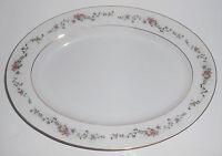 Acsons Porcelain China Limoge Floral W/Gold Platter