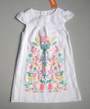 NEW Gymboree ISLAND CRUISE Girls 5T White Linen Dress Parrot Flamingo