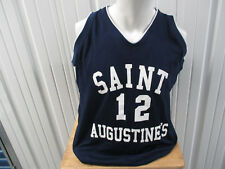 VINTAGE RUSSELL ATHLETIC ST. AUGUSTINE LADY FALCONS #12 SEWN BASKETBALL L JERSEY