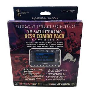 New Open Audiovox XM Satellite Radio XCS9 Combo Pack w/ Car Vehicle Kit SIRIUS