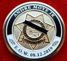 CALIFORNIA HIGHWAY PATROL OFFICER ANDRE MOYE JR MEMORIAL COINS (LAPD NYPD