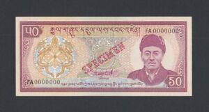 Bhutan SPECIMEN 50 Ngultrum 1992 UNC (Pick 17bs) FA
