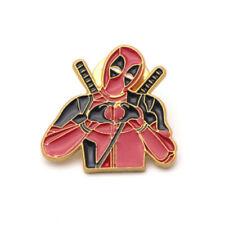 I HEART U DEADPOOL PIN Marvel Film Denim Jacket Clothing Lapel Brooch Badge Gift