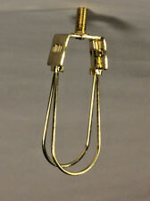 NEW  BRASS  FINISH  WASHER  TO  CLIP  ON  LAMP SHADE ADAPTER CANDELABRA   #SC115