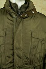 JOHNSTON & MURPHY MEN'S BROWN NYLON/FLANNEL 3/4 LENGTH JACKET COAT SIZE XXL VGC!