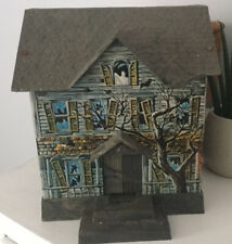 Rare Vintage 1967 Disney Brumberger Tin Battery Operated Haunted House Bank