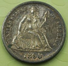 1890 S Seated Liberty Dime Almost Uncirculated!