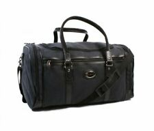 Large Black Shoulder Holdall Leather Style Travel Weekend Luggage Bag Long Strap