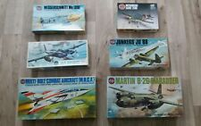 Airfix Vintage ww2 AIRCRAFT MODEL KITS x6, Marauder, Mosquito, Corsair, Me 109