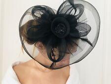 Masquerade Black Mesh Headband Feather Rose Flower Fascinator For Photoshoot