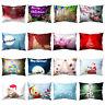 HD_ US_ HR- KQ_ Merry Christmas Tree Snow Throw Pillow Case Cushion Cover Home X