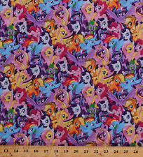 My Little Pony Ponies Unicorns Girls Kids Magic Cotton Fabric Print BTY D763.52