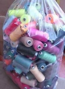 25 X 1000yd THREAD - 120s POLYESTER MIXED PACK - BUNDLE - ASSORTED COLOURS