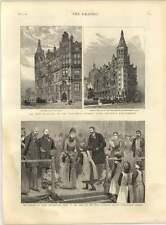 1887 National Liberal Club Victoria Embankment Royal Patriotic Asylum Wandsworth