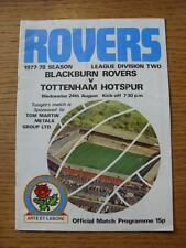 24/08/1977 Blackburn Rovers V Manchester United [Manchester United 2nd DIVISIONE