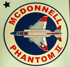 F-4 PHANTOM JET FIGHTER  LARGE  WINDOW DECAL