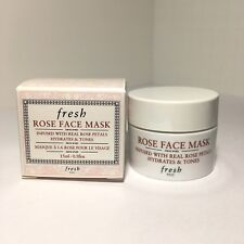 Fresh Rose Face Mask Rose Petals Hydrates & Tones - 15ml - 0.5oz New in Box