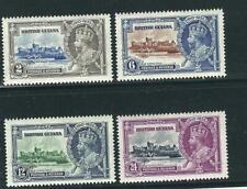 British Guiana Stamps 223-26 SG 301-04 Jubilee MNH VF 1935 SCV $27.50