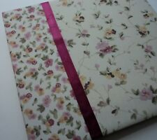 Laura Ashley Burgundy Collection Scrapbook Album 12 x 12 Floral Pink Flowers