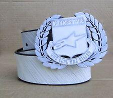 Alpinestars Racing Paintend Crest Mens White Belt One Size Fit Most Adjustable