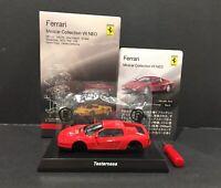 Kyosho 1/64 Ferrari 7 NEO  Unassembled Diecast Car Model Testarossa Red Orange