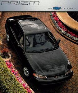 2000 Chevrolet Geo Prizm 18-page Original Car Sales Brochure Catalog