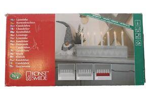 Konstsmide 3581-210 Kerzenleuchter Stimmungsleuchter Fensterdeko weiß