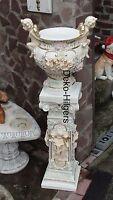 Säule mit Vase Blumensäule Garten Engel Gartensäule Engelsäule Schale Figur Fa13