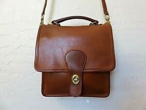 hipster accessories small crossbody bag dark brown genuine leather small travel purse Vintage 80s crossbody brown leather bag