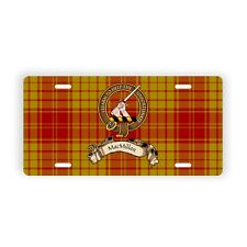MacMillan Scottish Clan Old Tartan Novelty Auto Plate Family Name License Plate