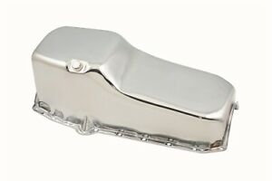 Mr Gasket 9781 Chrome Plated Oil Pan for Chevy Small Block (262-400) Engine