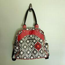 petunia pickle bottom diaper bag backpack Black, White, Red