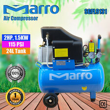 NEW Marro Indstrial Air Compressor 24L 2HP, 1.5KW 115PSI ELECTRICAL MOTOR