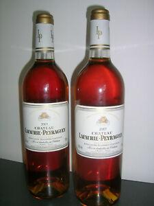 SAUTERNES - LAFAURIE PEYRAGUEY - Lot de 2 b. 2001  - Bon blanc liquoreux.