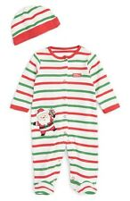 LITTLE ME NEW Boys My 1st Christmas Santa Footie Hat Set Outfit NWT Sz 6 months